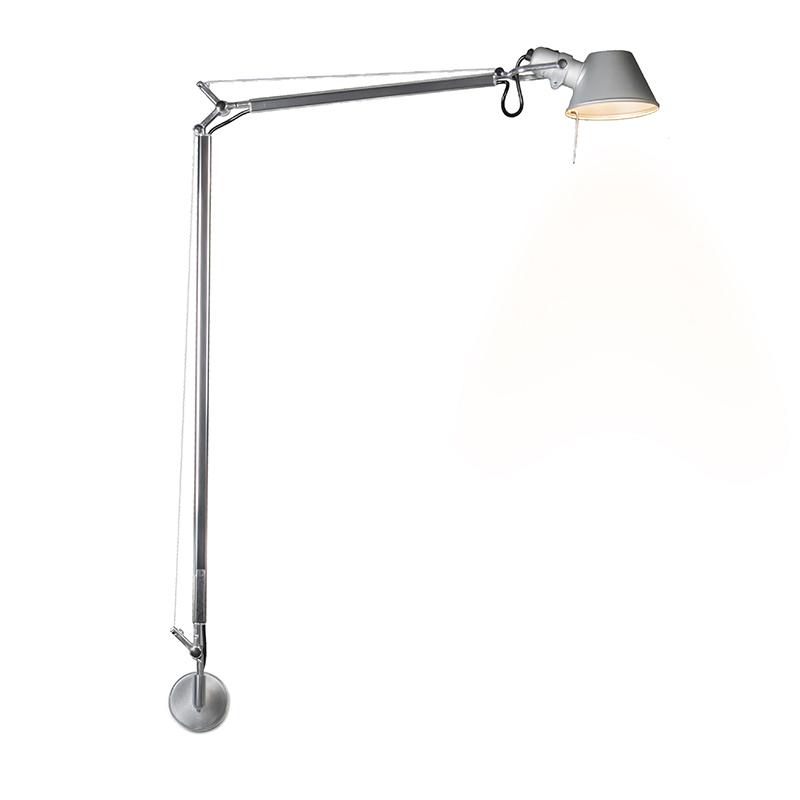 Immagine di Applique Artemide 'Tolomeo Lettura Parete' moderno grigio/alluminio - adatto per LED / interno