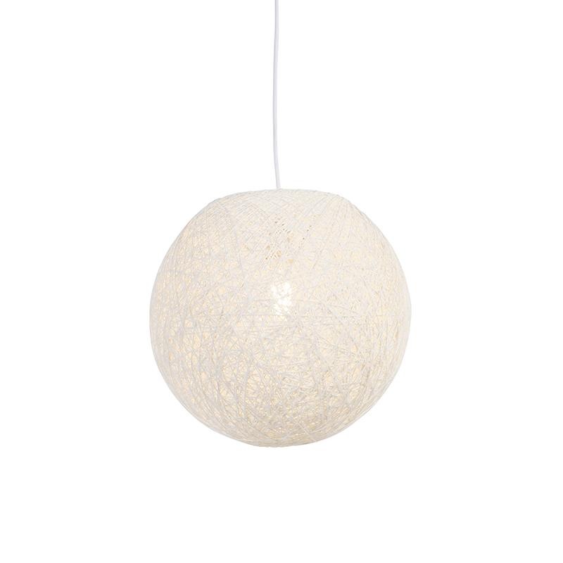 Landelijke hanglamp wit 35 cm - Corda