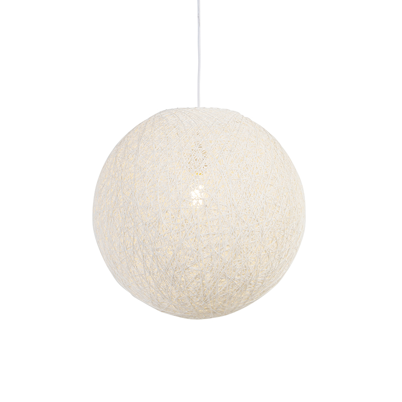 Landelijke hanglamp wit 45 cm - Corda