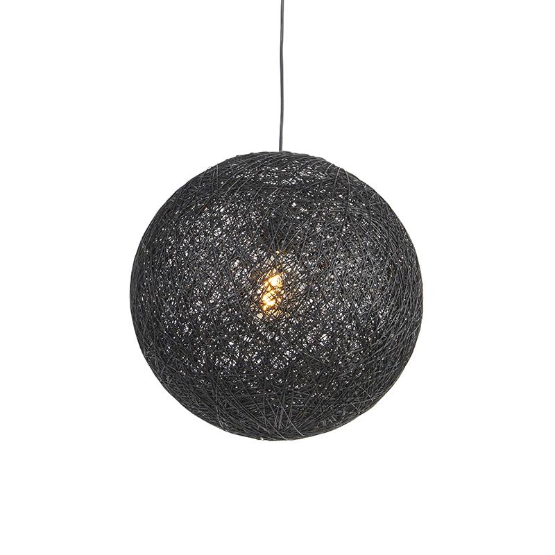 Lampa wisząca czarna 45 cm - Corda