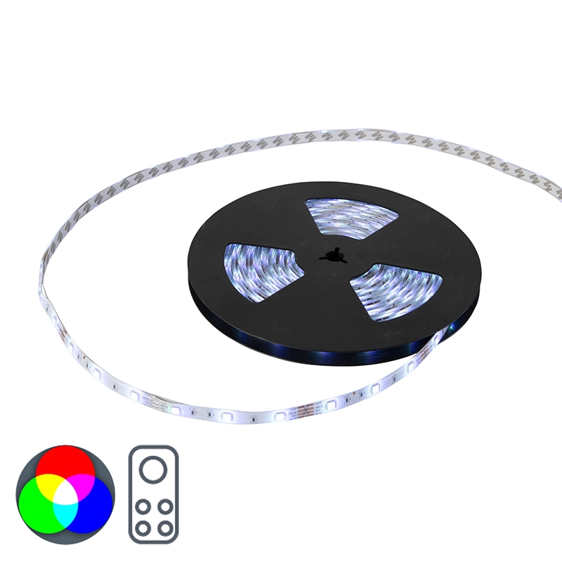 Flexibele RGB LED strip IP20 10mtr set