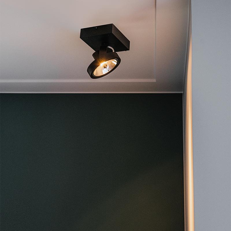 Design spot zwart verstelbaar 1-lichts incl. 1 x G9 - Go