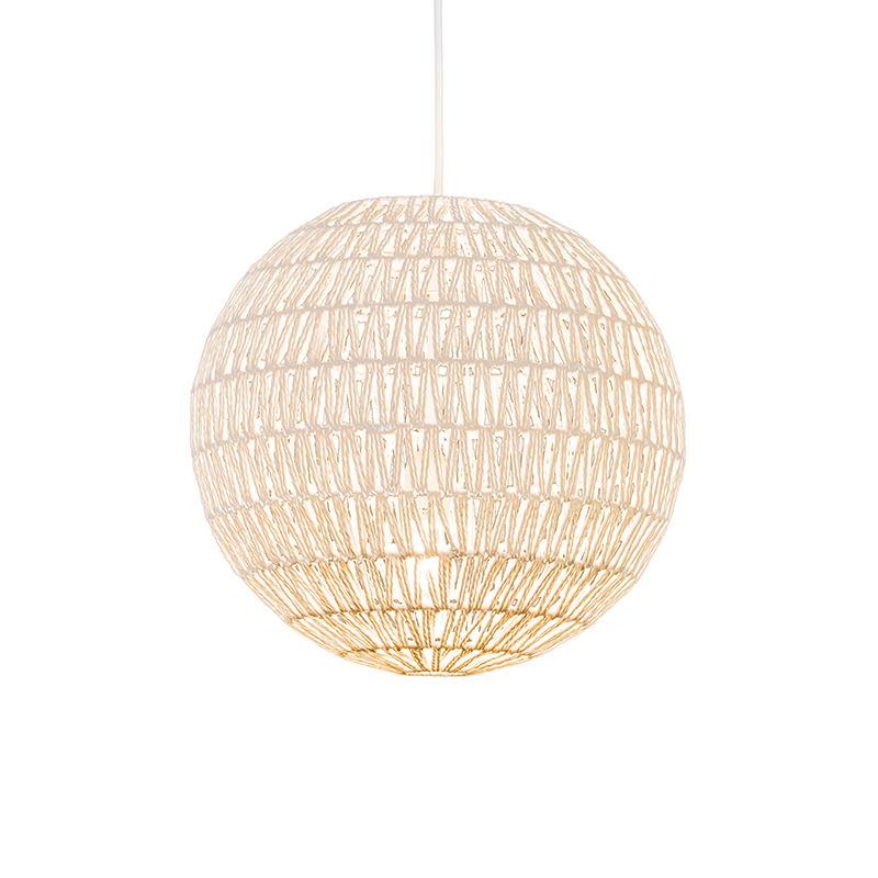 Retro lampa wisząca biała 40cm - Lina Ball