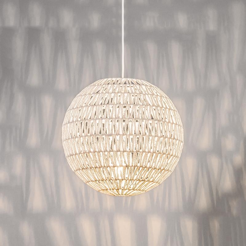 Retro hanglamp wit 40 cm - Lina Ball 40