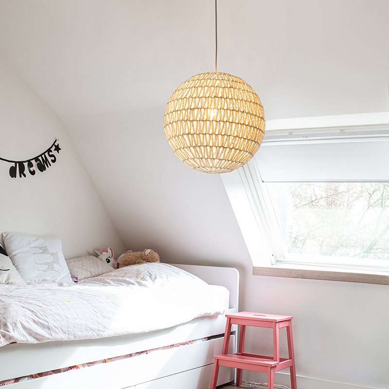 Retro hanglamp wit 60 cm - Lina Ball 60