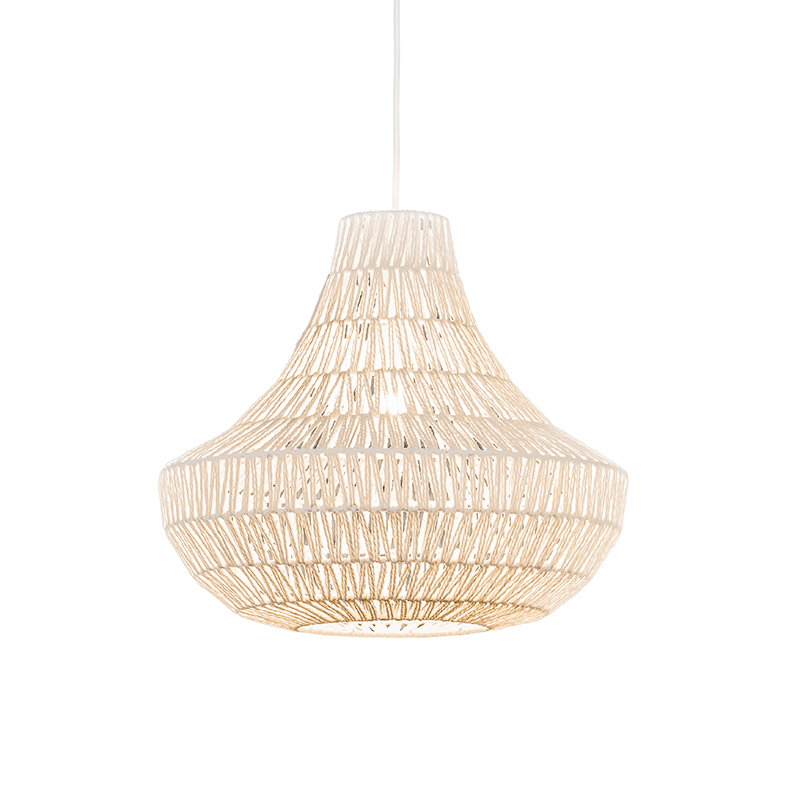 Retro lampa wisząca biała 50cm - Lina Cono