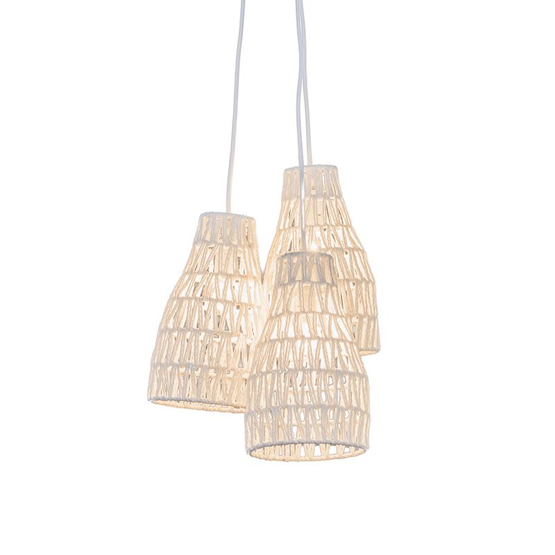 Retro lampa wisząca biała - Lina 3