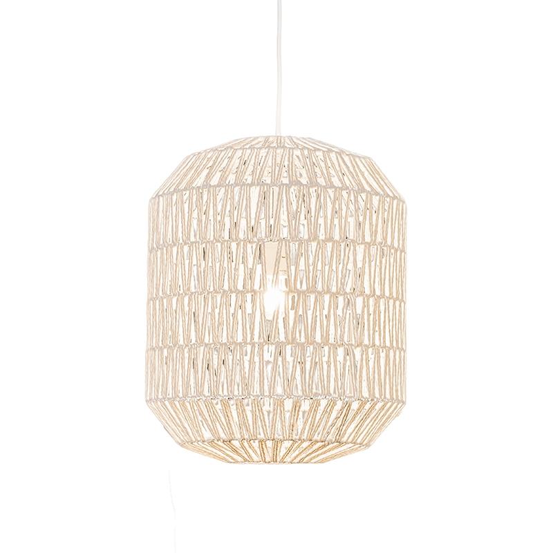 Retro lampa wisząca biała 40cm - Lina Hive