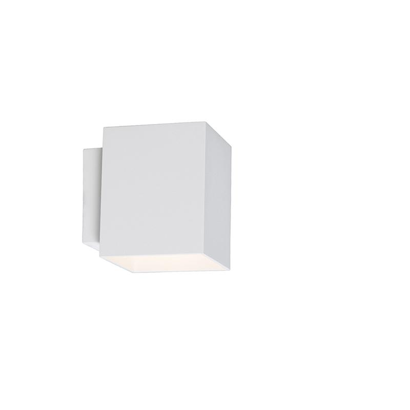 Moderne wandlamp vierkant wit - Sola
