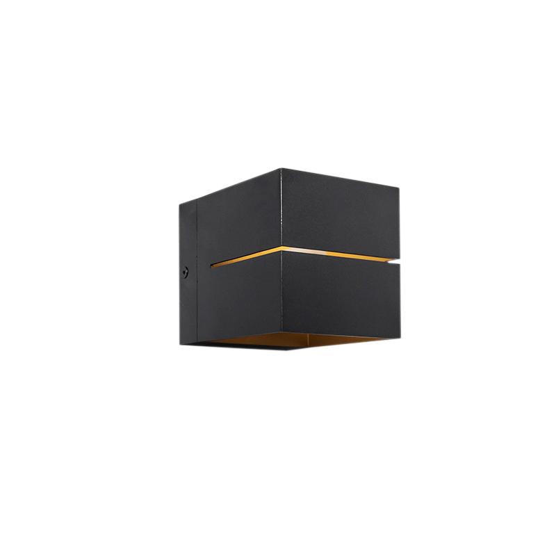 Moderne wandlamp zwart/goud - Transfer 2