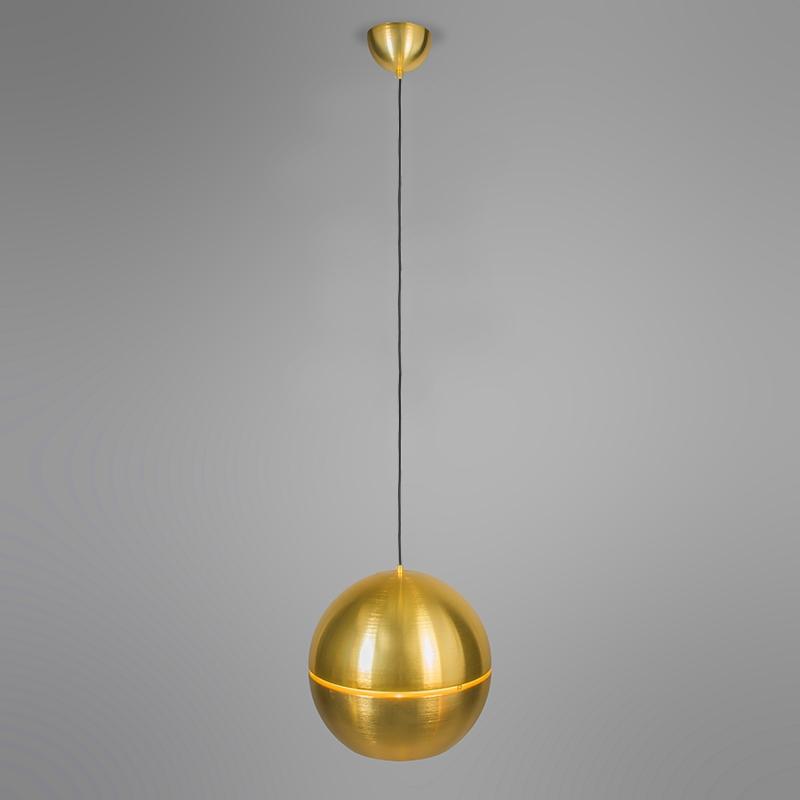 Retro hanglamp goud 40 cm - Slice
