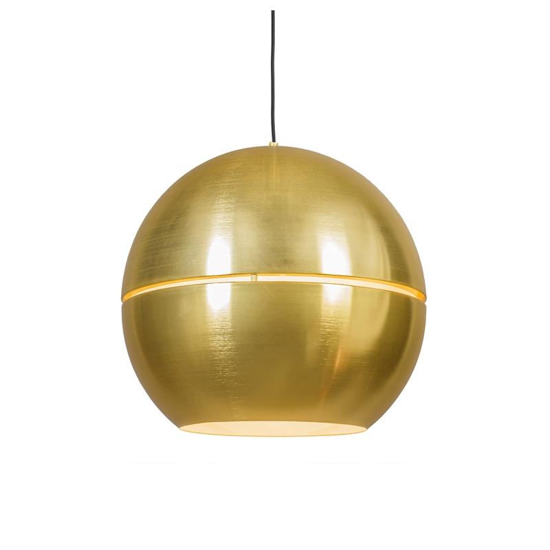 Lampa wisząca w stylu art deco złota 50 cm - Plasterek