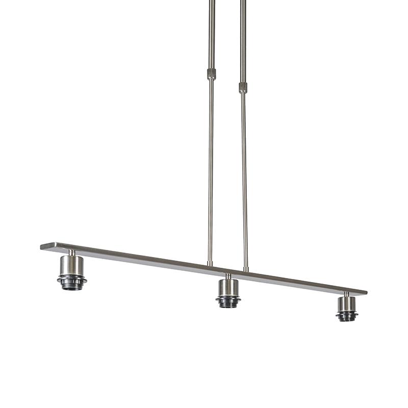 Hanglamp staal zonder kap - Combi 3 Deluxe