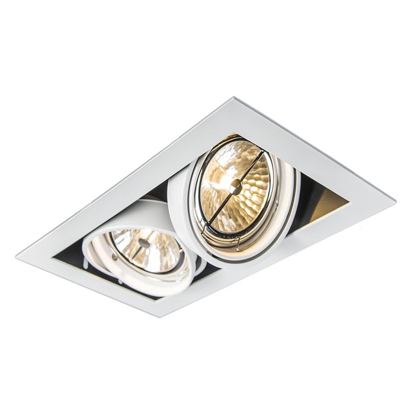Oprawa do wbudowania biała 2 -źródła światła - Oneon 111-2