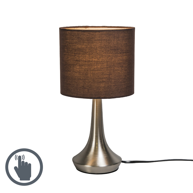Tafellamp Milo 1 rond bruin