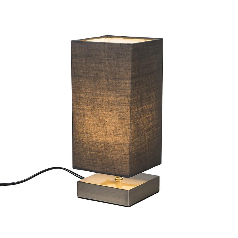 Tafellamp Milo vierkant grijs