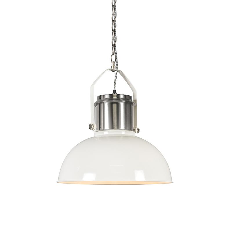 Przemysłowa lampa wisząca biała - Przemysłowa 37