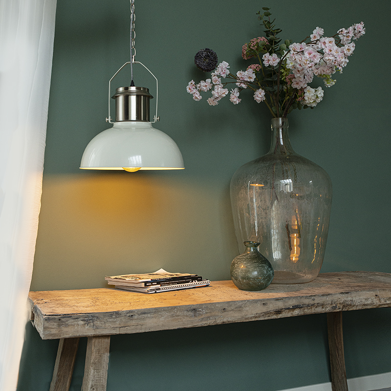 Industri�le hanglamp wit - Industrial 37