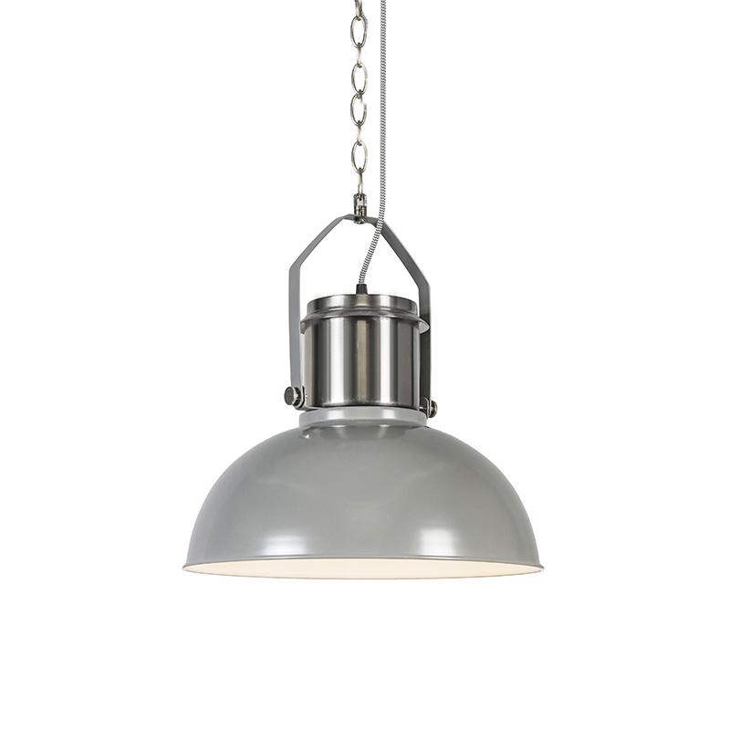 Przemysłowa lampa wisząca szara - Przemysłowa 37
