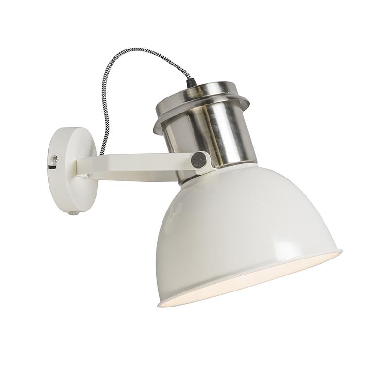 Industriële wandlamp creme - Industrial