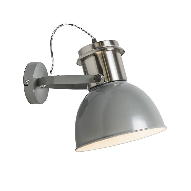Industri�le wandlamp grijs - Industrial