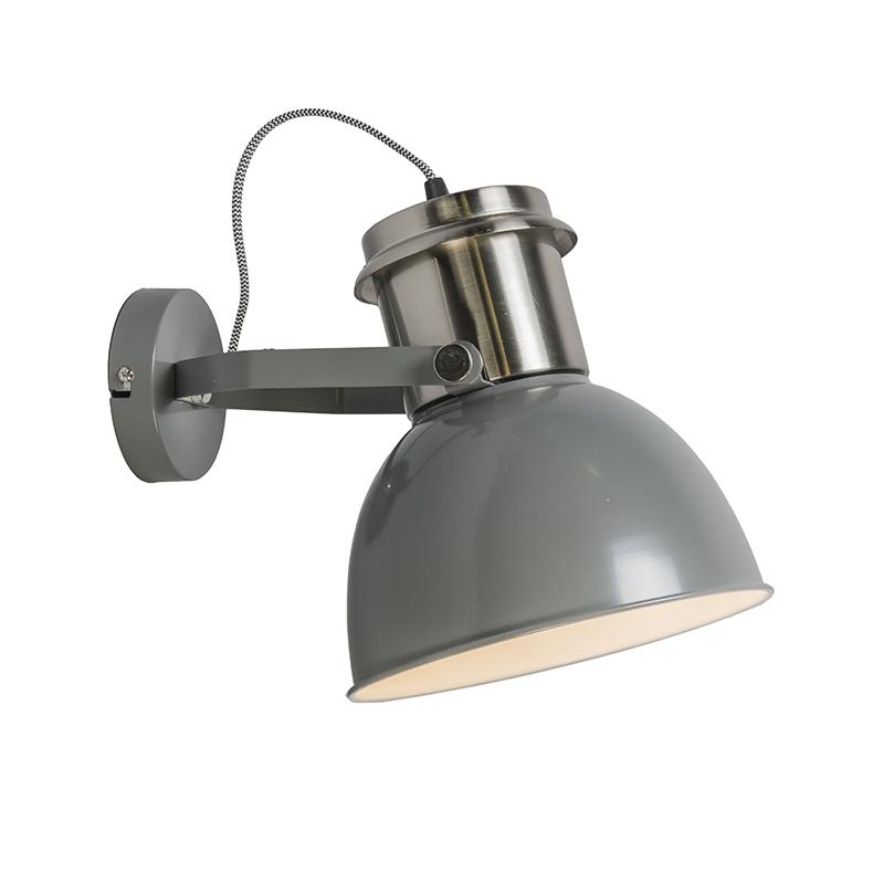 Wandlamp Industrial grijs