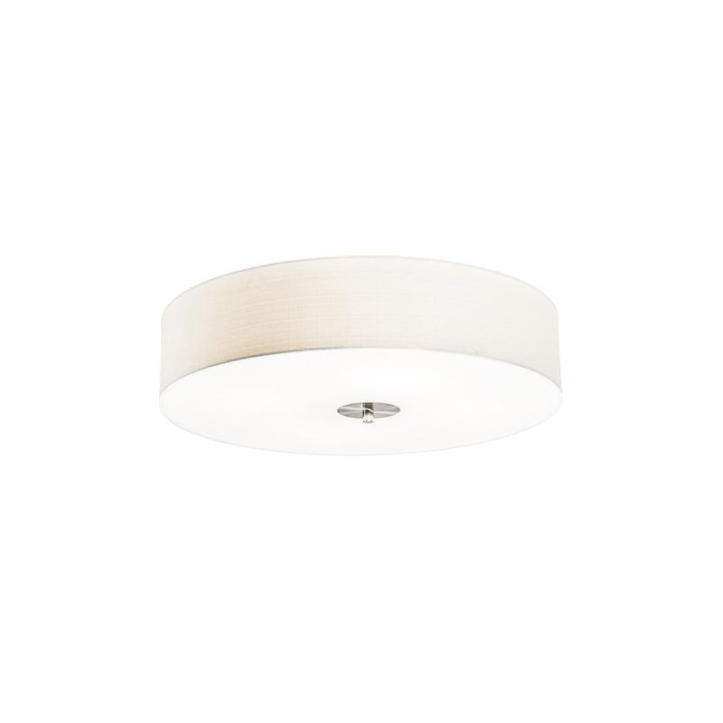 Landelijke plafondlamp wit 50 cm - Drum Jute