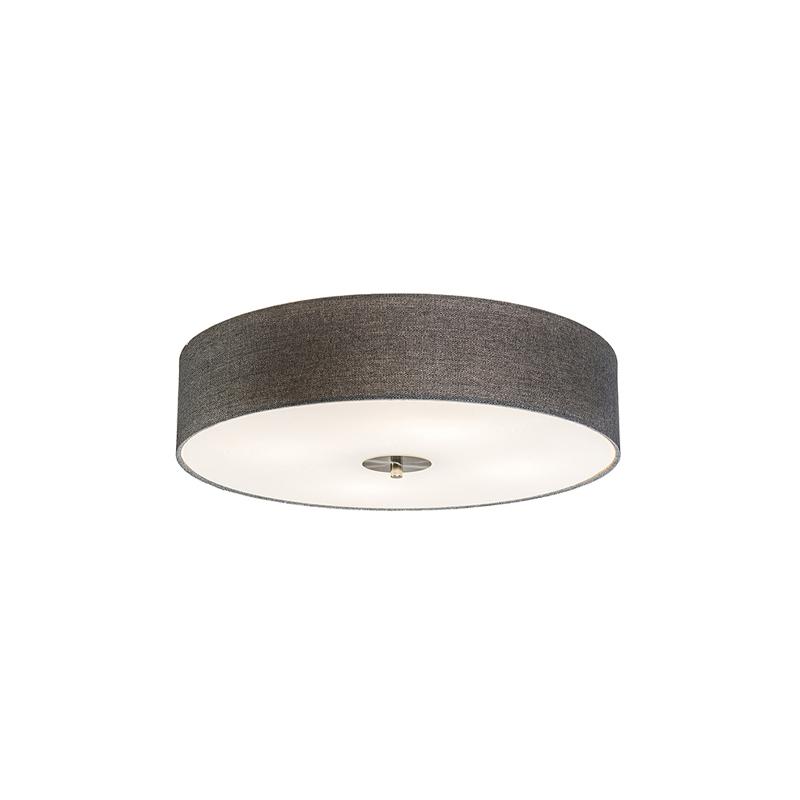 Landelijke plafondlamp grijs 50 cm - Drum Jute