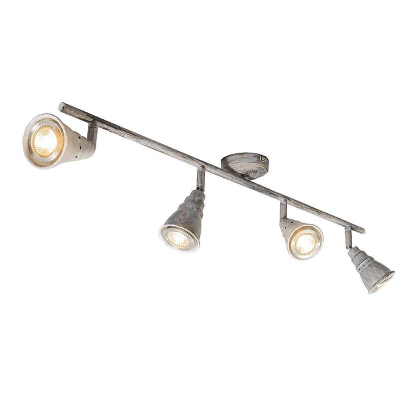 Plafondspot grijs draai- en kantelbaar - Coney 4