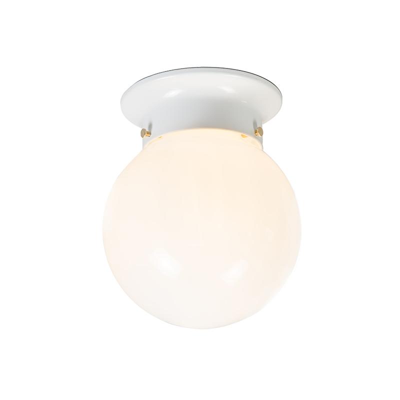 Lampa sufitowa retro białe mleczne szkło - Scoop