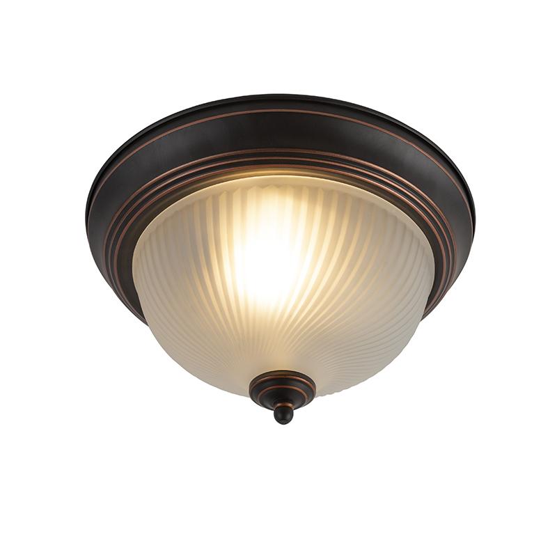 Klassieke plafondlamp bruin opaal - Classico