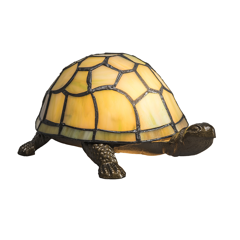 Tafellamp Tiffany Turtle geel