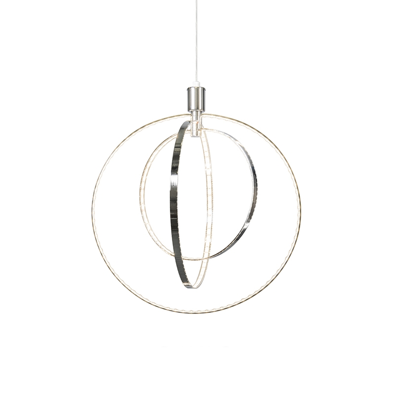 Moderne hanglamp chroom incl. LED - Halo Large