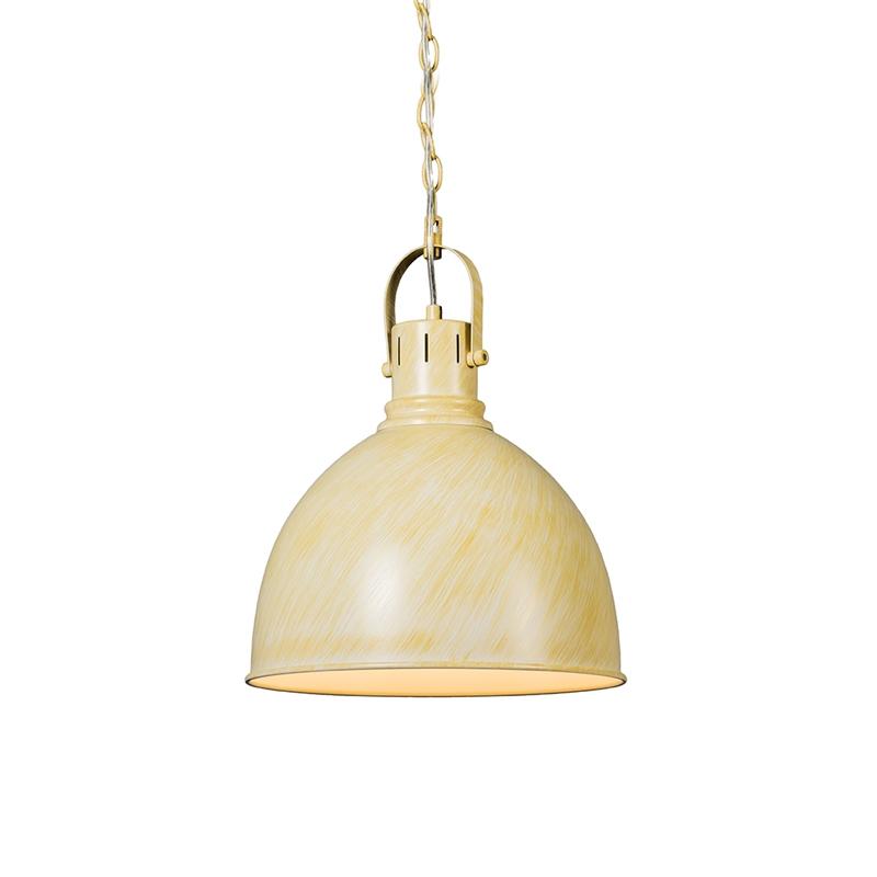 Industriele ronde hanglamp antiek wit - Goblet