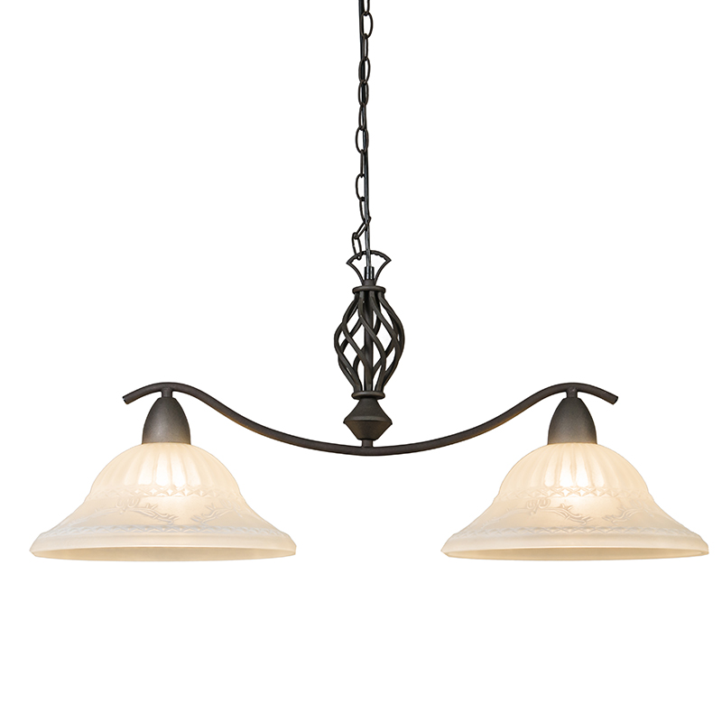 Hanglamp Elegant 2 roestkleur