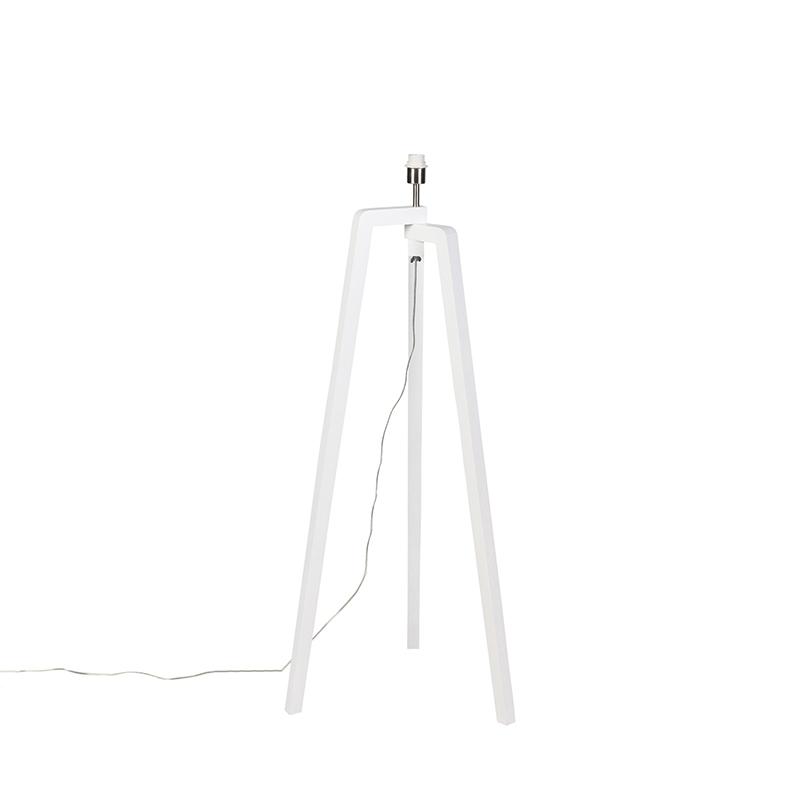 Moderne vloerlamp wit zonder kap - Puros