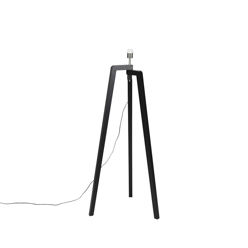 Vloerlamp zwart zonder kap - Puros