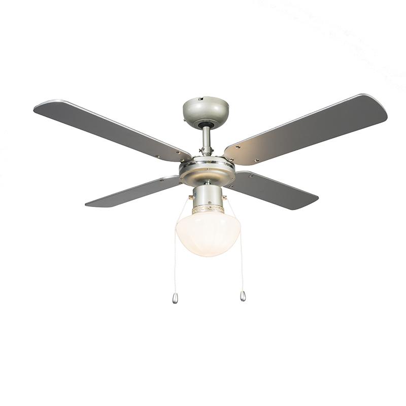 Plafondventilator Wind 42 zilvergrijs