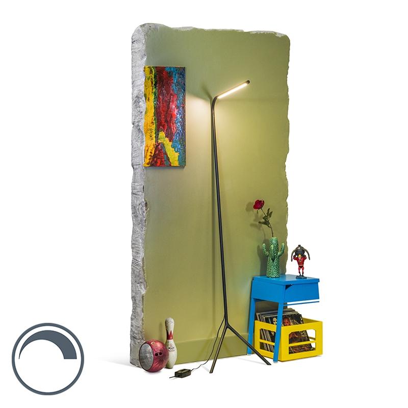 Design vloerlamp zwart incl. LED - Lazy Lamp