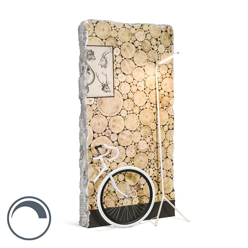 Design Vloerlamp Wit Incl. Led - Lazy Lamp
