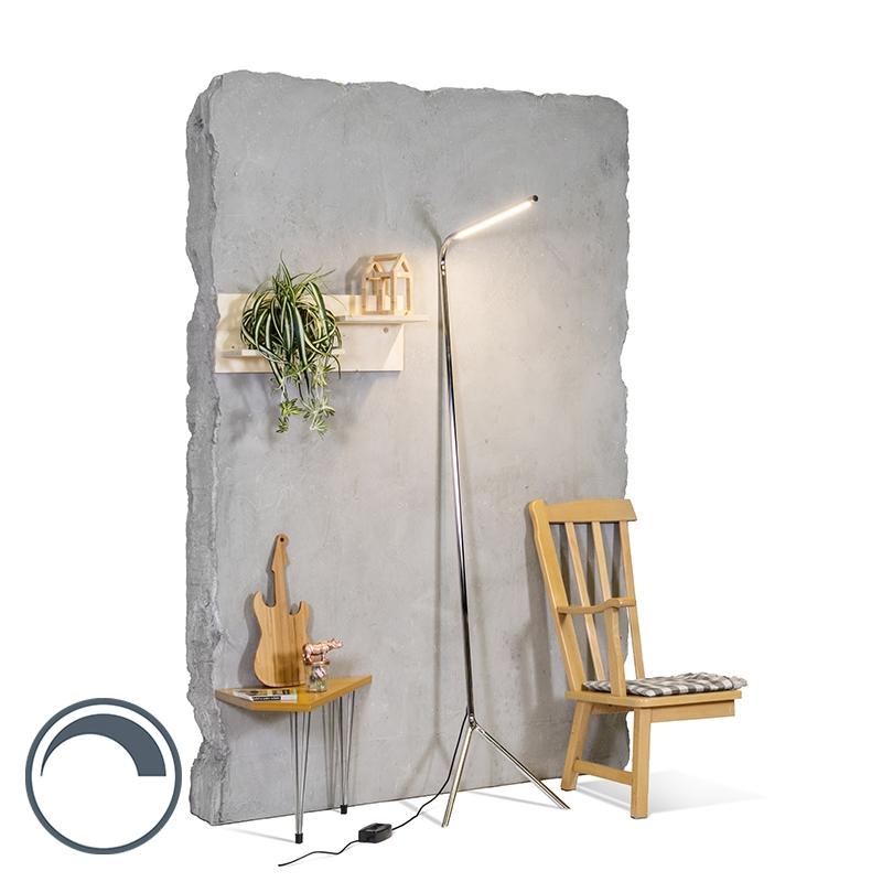 Design Vloerlamp Chroom Incl. Led - Lazy Lamp