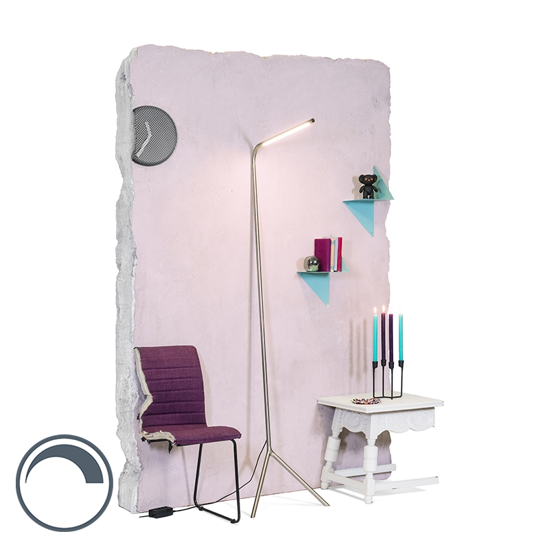 Design Vloerlamp Staal Incl. Led - Lazy Lamp