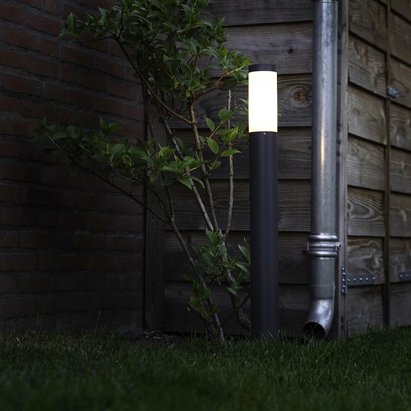 Buitenlamp Rox paal 80 donkergrijs
