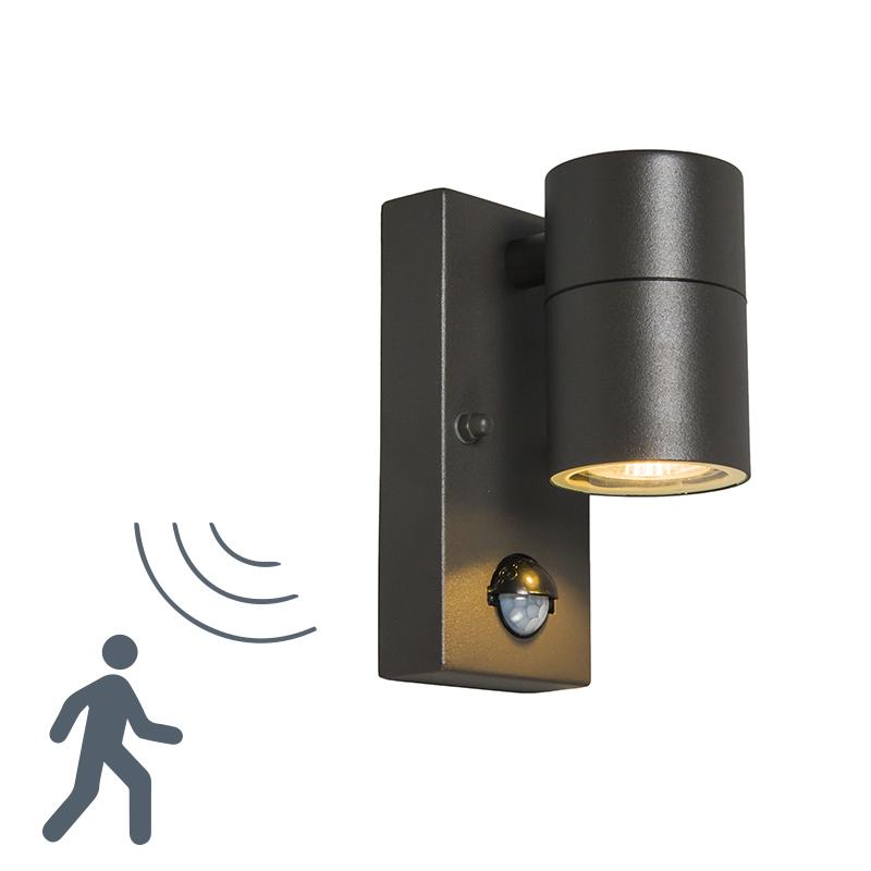 Buitenlamp Solo PIR donkergrijs