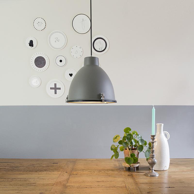 Industri�le hanglamp bruin 38 cm - Anteros