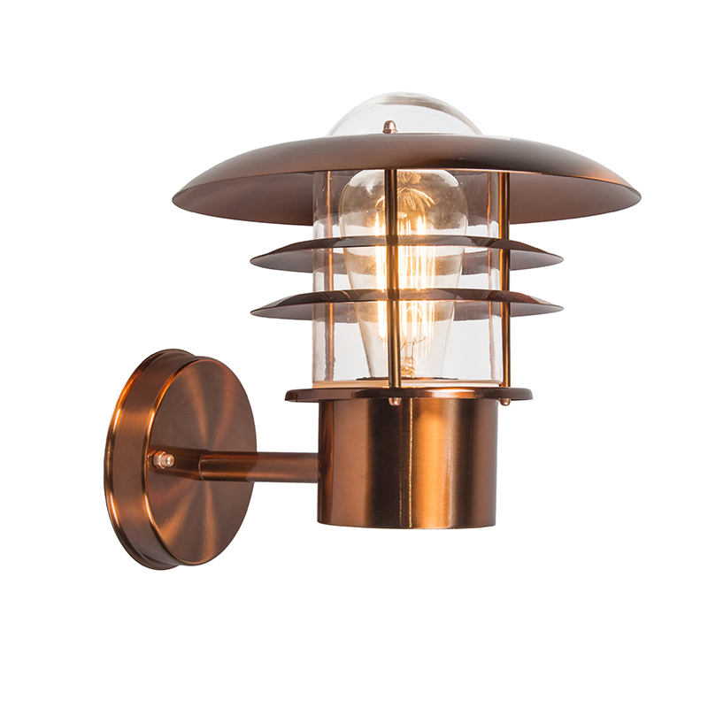 Vintage buitenwandlamp koper IP44 - Prato