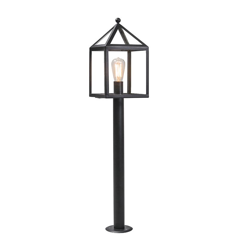 Buitenlamp paal zwart 100 cm - Amsterdam