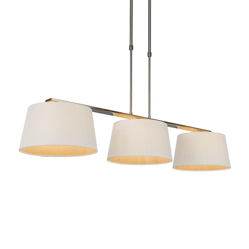 Hanglamp Combi Delux 3 kap rond 30cm wit