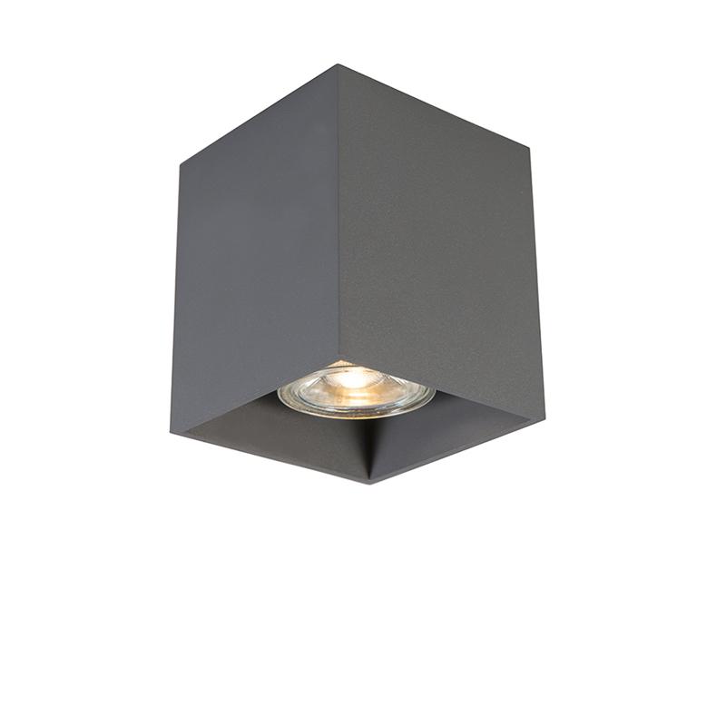Moderne spot donkergrijs - Qubo 1