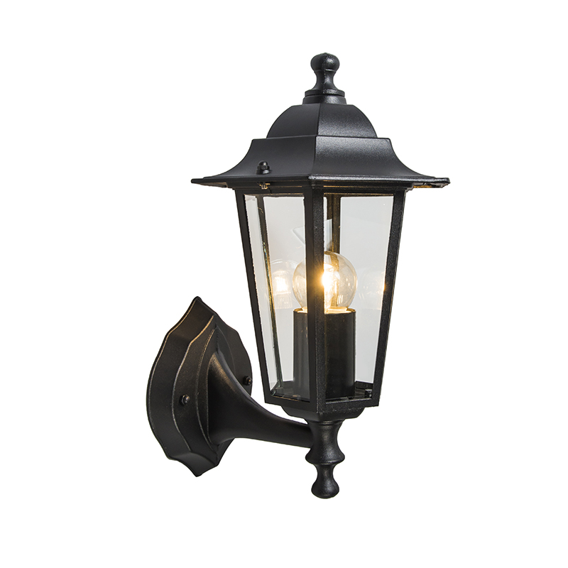 Buitenlamp New Haven up zwart